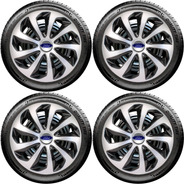 Jogo Calota 14 Velox Silver Black Ford Fiesta Focus Ka Novo