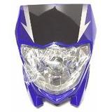 Mascara C/ Optica Delantera Azul Yamaha Xtz 125 Moto Genesis