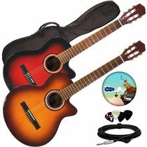 Guitarra Electro Criolla Acustica Corte Funda Pua Fender