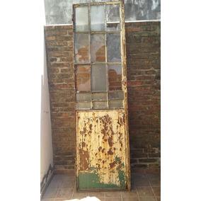 Puerta Doble De Ingreso De Perfiles Y Vidrio Repartido