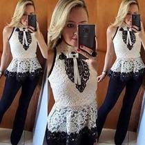 Blusas Femininas Renda Regata Modelo Verão 2017