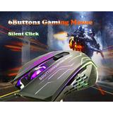 Mouse Gamer Silencioso Usb 6 Botones Gaming 3200dpi Óptico