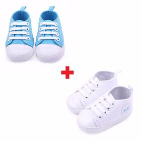 2 Sapatinhos Bota Tênis Calçados Bebê 0 A 4 Mês Frete Grátis