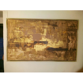Cuadro Pintura Cafe Abstracto Decoracion Arte