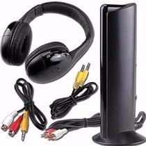 Fone De Ouvido Sem Fio Wireless 5x1 Rádio Fm Tv Pc Skyp