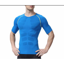 Camiseta Transpirable De Hombre Gym Mma Crossfit Running Bic