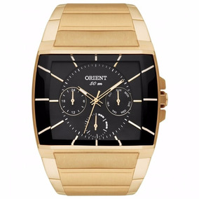 Relógio Orient Quadrado Dourado Ggssm001 P1kx C/ Nf