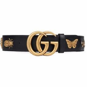 Cinto Gucci Gg Animal Studs Feminino Couro - Frete Grátis