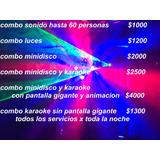 Alquiler Luces Sonido Karaoke Poyector Pantalla Disc Jockey