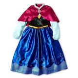Vestido Del Traje Frozen Anás Con Cabo Tamaño S 5/6