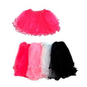 10un Saia Bailarina Tule Decorado Pink 1 Unidade