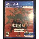 Resident Evil 7 Deluxe Ps4 Vr Nuevo Sellado Español Oferta!!