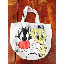 Bolso De Tela 47 Street De Los Looney Tunes Nueva A Estrenar