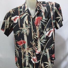 Camisa Imp Kennington Cotton Preta Bambus E Folhas G 584