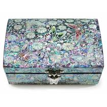 Joyas Trinket Box Madera De Nácar Incrustacio + Envio Gratis
