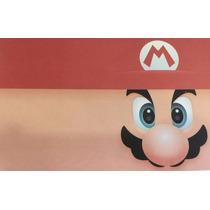 8 Convites Aniversário Infantil Festa Tema Super Mario