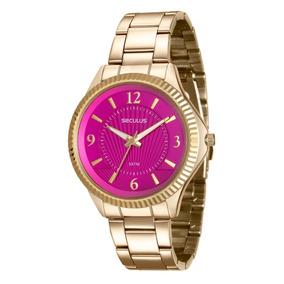 bfed00bcc0b Leilo Relogio Seculus Stilo Aco 11433 - Relógios De Pulso no Mercado ...