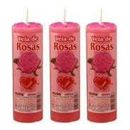 3 Velas Votiva 2 Aroma Aromática Perfumada Luz Paz Rosas Mel