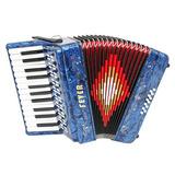 Fever Piano Acordeón 25 Teclas 12 Bajo, Azul