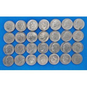 Estados Unidos 1 Dime De 1966 Al 2000 Lote De 28 Moneda