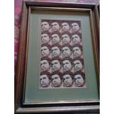 Par De Planchas Estampillas Enmarcadas De Evita Y El Che
