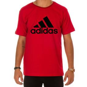 Camisetas Adidas Vermelha - Camisetas Manga Curta Masculino no ... 94058a06ed