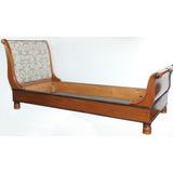 Antiguo Divan Sofa Chaise Longue Con Marqueterie