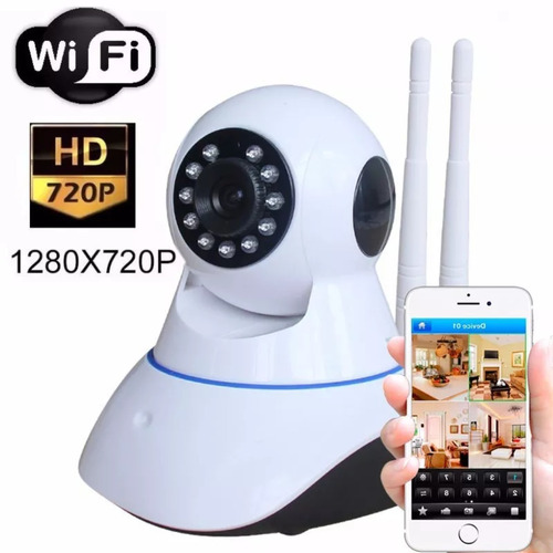 Camera Wifi Seguran?a Ip S/fio Wireless Infra C/ Audio 1,3mp