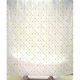 Cortina Para Baño Eva Mosaico Con 12 Ganchos Ba-425526