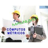 Sistema Excel Cómputos Métricos Mediciones Obras Partidas