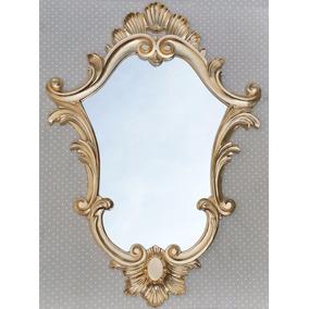 Moldura Estilo Veneziana Já Com Espelho Dourada