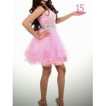Lindo Vestido De Festa De 15 Anos Curto Linda Princesa (p)