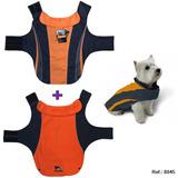 Capa Impermeable + Polar Talle Xl Color Azul Naranja + Envio