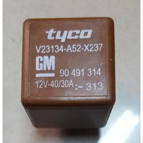 Rele Auxiliar 5 Pinos Tyco Gm 12v 40/30a Radiador 90491314