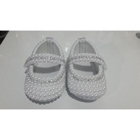 Sapatinho De Bebê Personalizado Com Pérolas