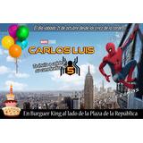 Tarjeta Invitación Digital Cumpleaños Spiderman Homecoming