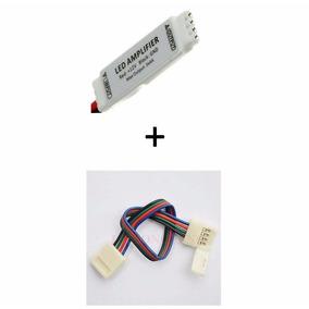 Amplificador Sinal Fita Led Rgb 5050 3528 Repetidor + Emenda