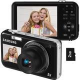 Câmera Digital Samsung Pl120 Preta C/ 14.2mp+ Cartao 2gb