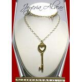 Alhaja Cadena Tiffany & Co Llave Corazon Y Cadena Oro 18