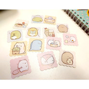 Set De 14 Stickers Kawaii Sumiko Gurashi Scrapbook Bullet