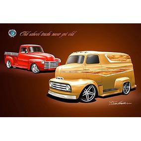 Camiones Vieja Escuela Nunca Envejecen - Impresión Del Arte