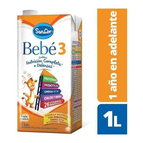 Leche Sancor Bebe 3 (+2 A?os) Nutricion Infantil 24 X 1litro
