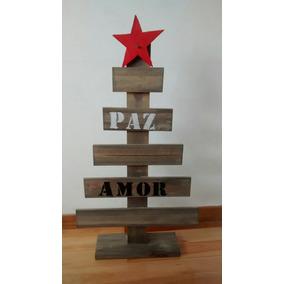 arbol de navidad de madera con frases madera tipo palet - Arbol De Navidad De Madera