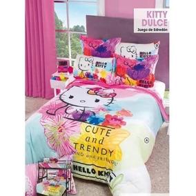 Juego De Edredón Hello Kitty Dulce Matrimonial Intima