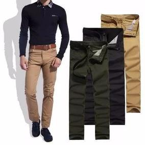 Calça Masculina Colorida Várias Cores Lycra Slim Sarja Lucre