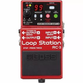 Pedal Boss Rc3 Loop Station Guitarra Violao Garantia 1 Ano
