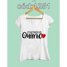 Engenharia Química Estampa Blusa Camiseta Feminina Faculdade