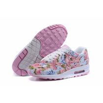 Zapatillas Nike Air Max 90 Mujer Floreadas Ultimo Par!