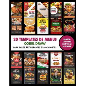 Flyers Editaveis Menu Cardapio Restaurantes - Corel
