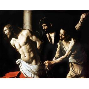 Lienzo Tela Cristo En La Columna Arte Sacro Caravaggio 50x60